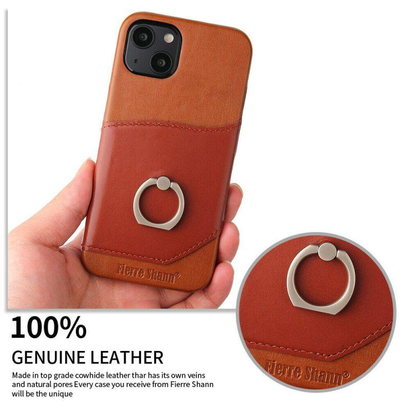 genuine leather iphone 13 pro case